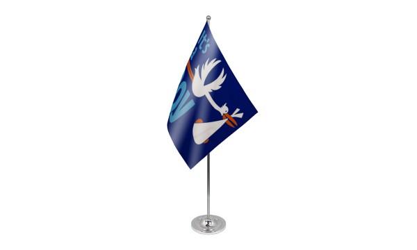 Its a Boy Satin Table Flag