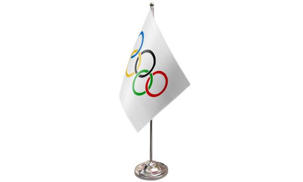 Olympic Satin Table Flag