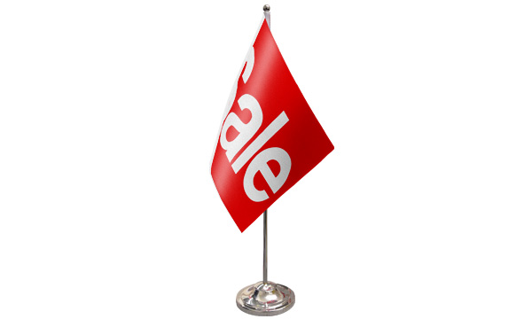 Sale Red Satin Table Flag