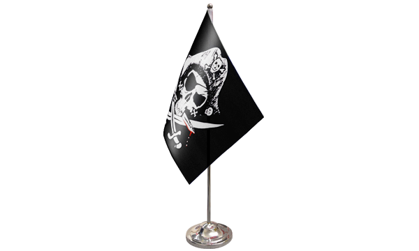 Crossed Sabres Satin Table Flag