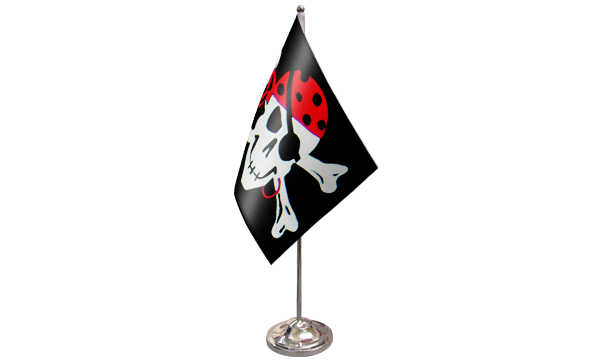 One Eyed Jack Satin Table Flag