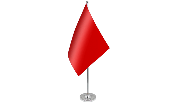 Plain Red Satin Table Flag