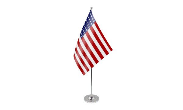 USA 48 Stars Satin Table Flag