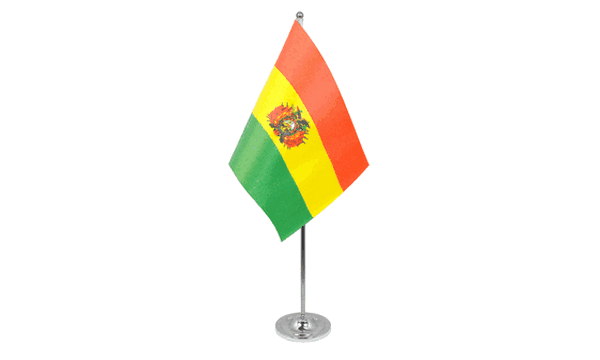 Bolivia Satin Table Flag
