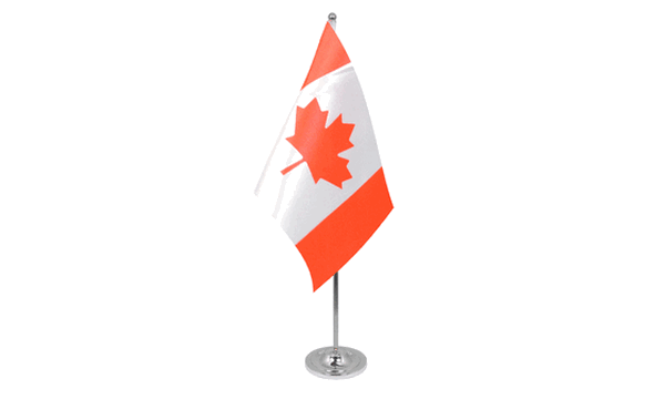 Canada Satin Table Flag