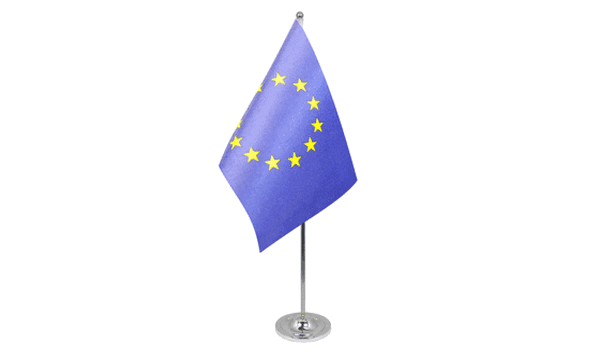 European Union (EU) Satin Table Flag