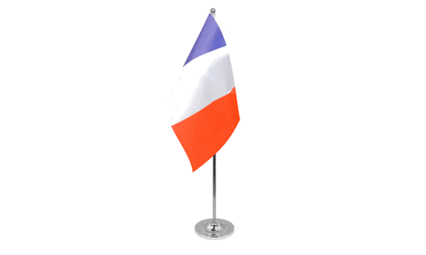 France Satin Table Flag