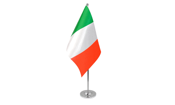 Italy Satin Table Flag