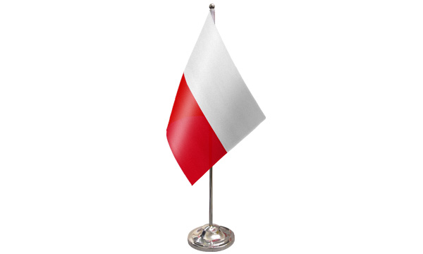 Poland Satin Table Flag