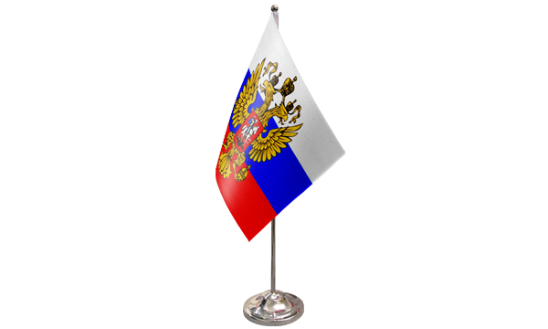 Russia (Crest) Satin Table Flag