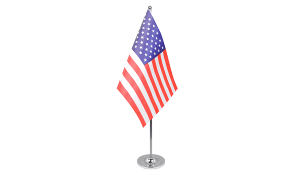 USA (United States) Satin Table Flag
