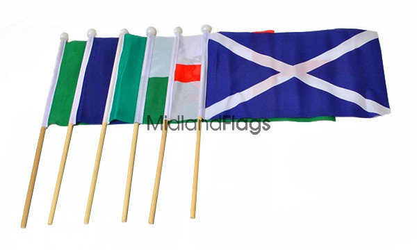 Six Nations Rugby - Hand Waving Flag Pack
