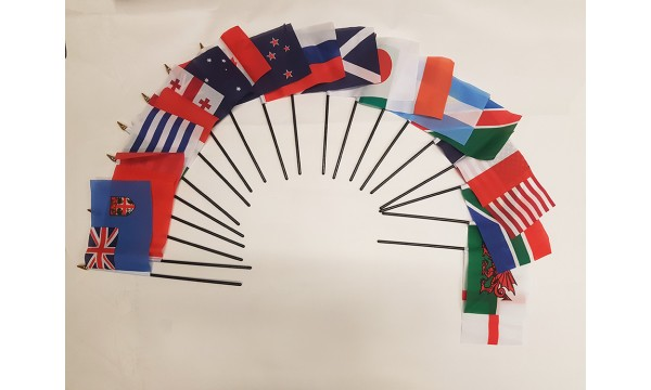 2019 Rugby World Cup - 20 Nations Hand Waving Flag Pack