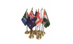 Cricket World Cup Table Flags