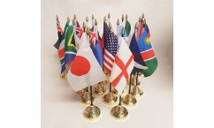 Rugby World Cup Table Flags