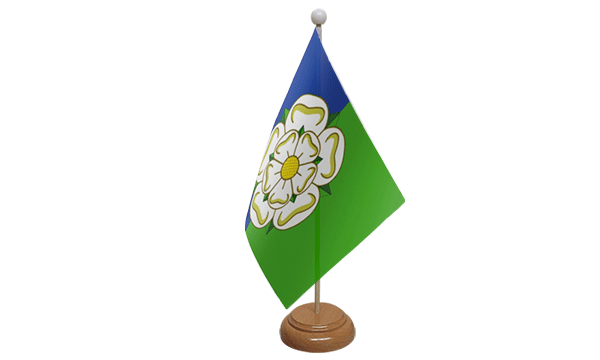 East Riding of Yorkshire Small Flag with Wooden Stand