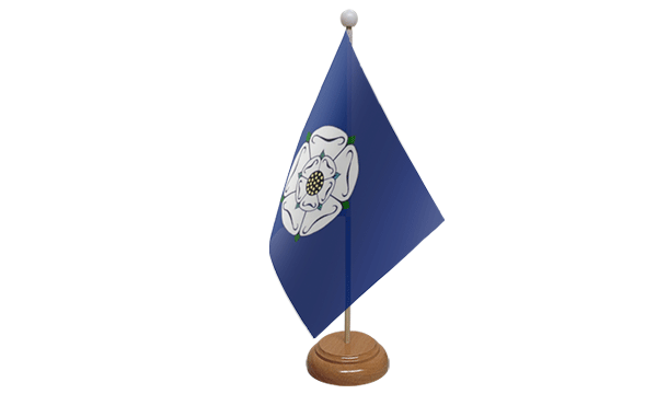 Yorkshire Old Small Flag with Wooden Stand