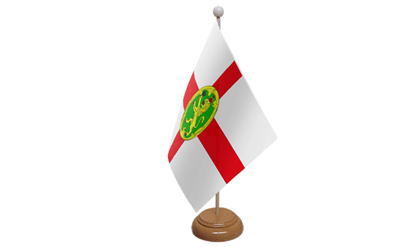 Alderney Small Flag with Wooden Stand