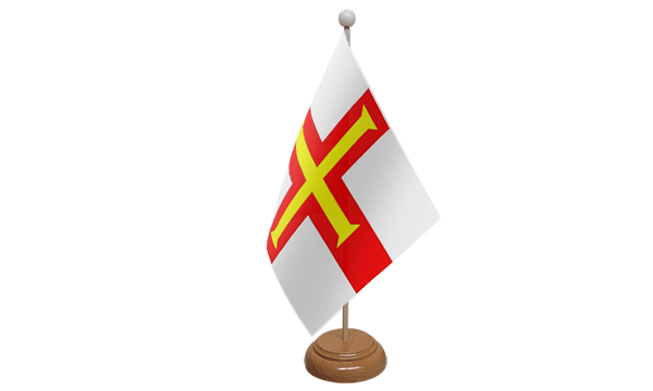 Guernsey Small Flag with Wooden Stand