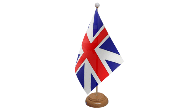 Kings Colours Small Flag with Wooden Stand