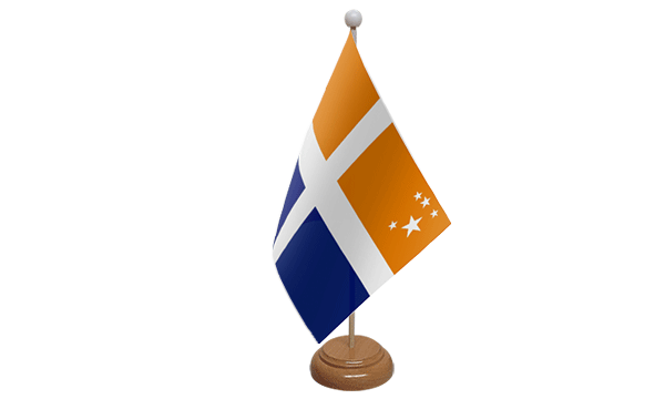 Scilly Isles (Cross) Small Flag with Wooden Stand