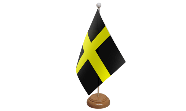St Davids Small Flag with Wooden Stand