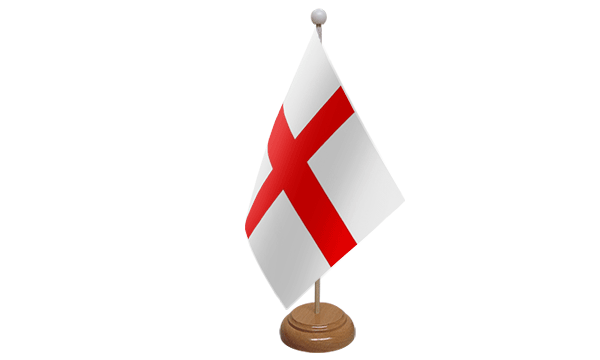 St George (England) Small Flag with Wooden Stand