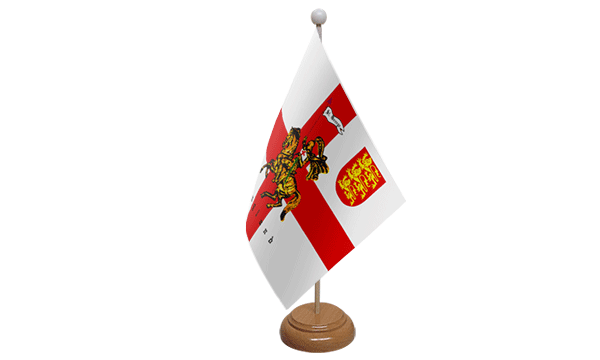 St George Charger Small Flag with Wooden Stand