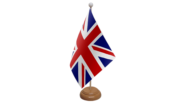Union Jack (UK) Small Flag with Wooden Stand