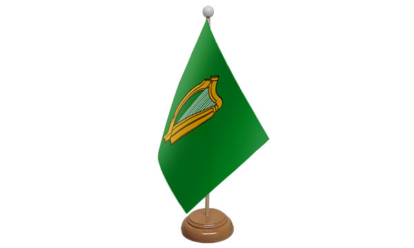 Leinster Small Flag with Wooden Stand