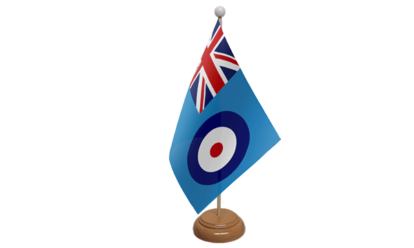 RAF Ensign Small Flag with Wooden Stand