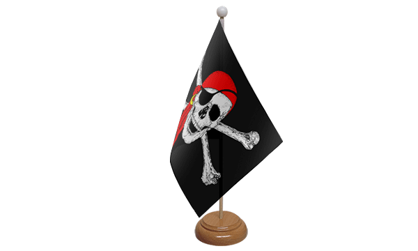 Pirate Bandana Small Flag with Wooden Stand