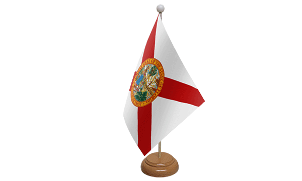 Florida Small Flag with Wooden Stand