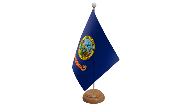 Idaho Small Flag with Wooden Stand