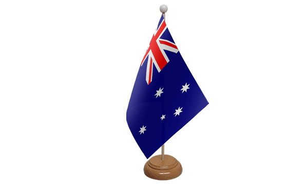 Australia Small Flag with Wooden Stand