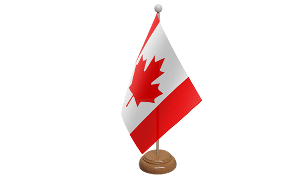 Canada Small Flag with Wooden Stand