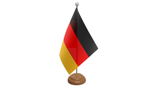 Germany Small Flag with Wooden Stand
