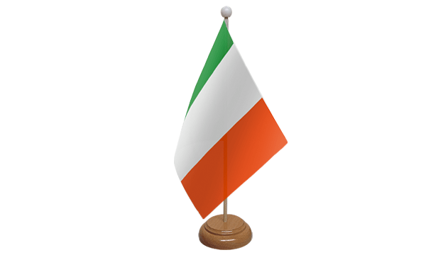 Ireland (Eire) Small Flag with Wooden Stand