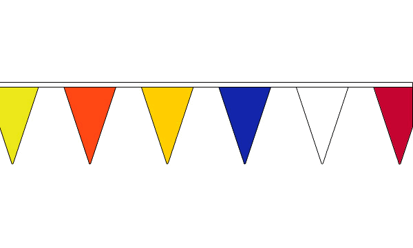 Multi Coloured Triangle Bunting