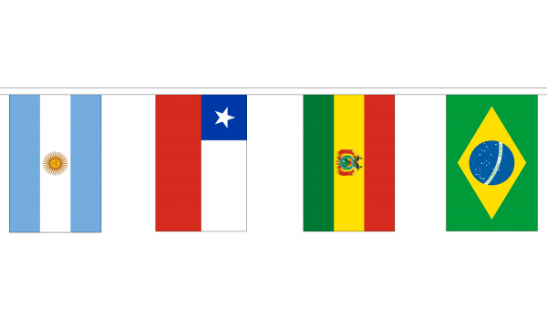 12 South American Nations Bunting