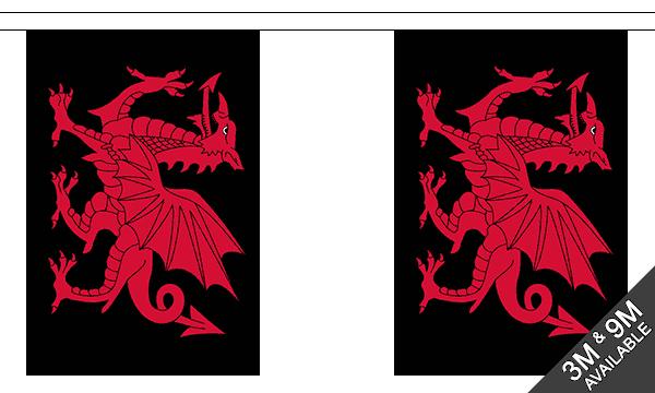 Welsh Dragon Black Bunting