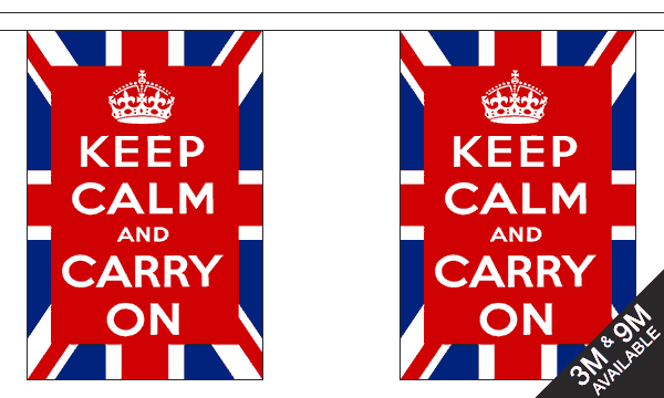 Keep Calm and Carry On (UK) Bunting