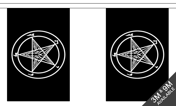 Baphomet Church of Satan Bunting