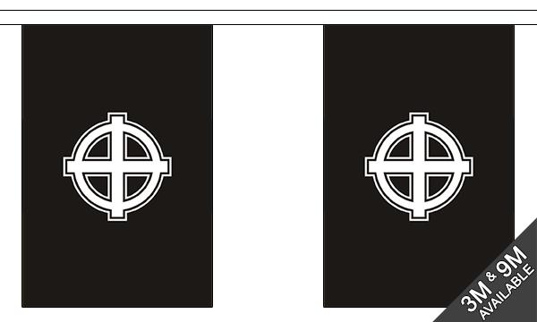 Celtic Cross (Black) Bunting