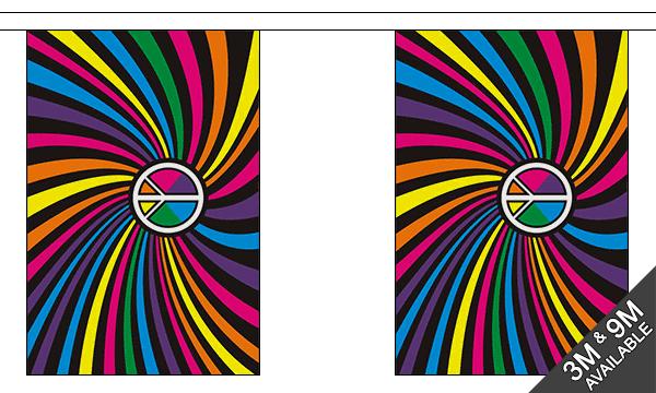 Rainbow Swirl Bunting