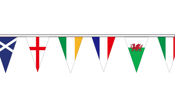Six Nations Rugby Triangle Bunting