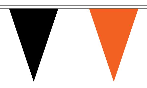 Black and Orange Triangle Bunting