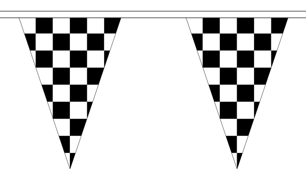Black and White Check Bunting
