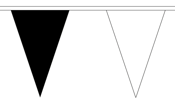 Black and White Alternating Triangle Bunting