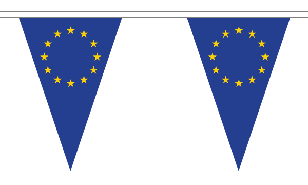 European Union (EU) Triangle Bunting